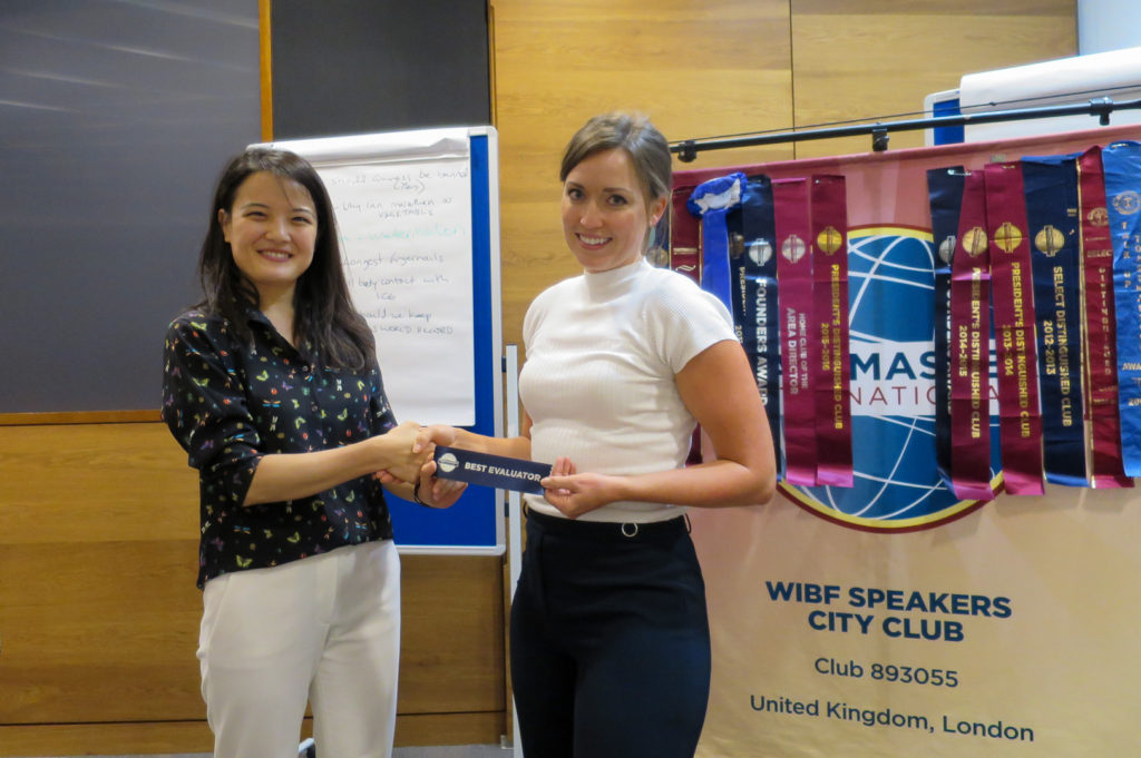 City Women Speakers London Toastmasters Sep